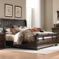 queen sleigh bedroom set queen traditional sleigh bed by liberty furniture wolf and