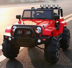 red jeep amazon com kids ride on jeep 12v power with big wheels and remote