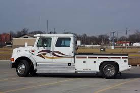 international semi truck international 4700 lp crew cab stalick conversion hauler sold