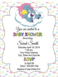 care baby shower care baby shower invitations personalized care bears