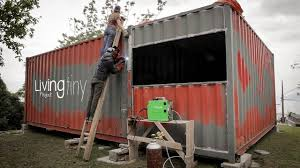 tiny shipping container house ep 003 living tiny project