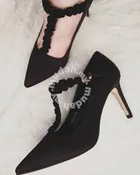 Wedding Shoes Johor Bahru Pointed High Heels Black Rose Wedding Party Shoes For Sale In