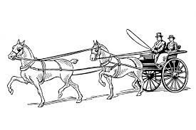 horse drawn carriage clipart horse and buggy pencil and in color