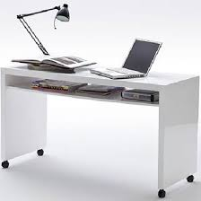 High Computer Desk Mike Computer Desk In High Gloss Finish With Wheels And 1 Shelf