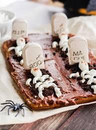 Plate Decorating Ideas For Desserts Graveyard Tombstone Brownies U2014 Home U0026 Plate Easy Seasonal Recipes