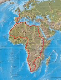 Lan Route Map by Moto Cross Africa Route