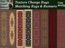 Rugs Runners Second Life Marketplace Whd Texture Change Rug Matching