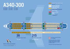 a340 seat map aircraft detail south airways