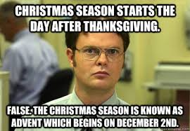 season starts the day after thanksgiving meme