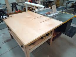 table saw station plans table saw outfeed table woodworking plans with brilliant innovation