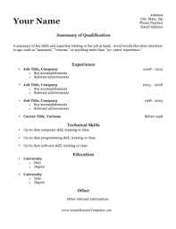 a resume template resume templates