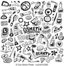 doodle vectors free cosmetic doodles cosmetic icons in sketch style eps vectors