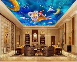 online get cheap cartoon mural wall aliexpress com alibaba group custom photo 3d ceiling murals wall paper cartoon animal blue sky child decor painting 3d wall murals wallpaper for walls 3 d