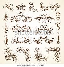 vector set vintage decorative ornamental page stock vector