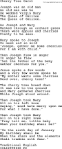 christmas powerpoints song cherry tree carol lyrics ppt for