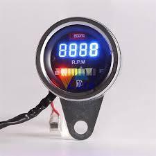 partol tachometer motorcycle atv rpm digital fuel gauge motorbike