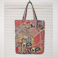 handy tote quilted japanese fabric koi design handy tote by