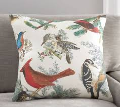 winter fauna pillow cover pottery barn