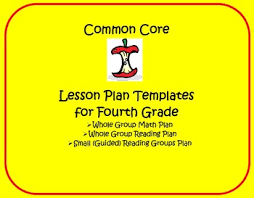 common core 4th grade lesson planning templates by lisa steele tpt
