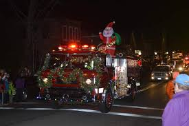 Fire Trucks Decorated For Christmas Parade In Camden Opens Christmas By The Sea Festivities By Louis