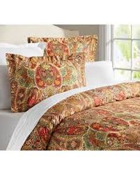 Pottery Barn Alessandra Duvet Ainsley Paisley Duvet U0026 Sham Red Potterybarn Size Full Queen