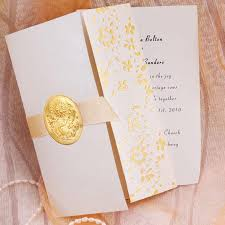 folding wedding invitations gold embossed floral deco tri fold wedding invitation