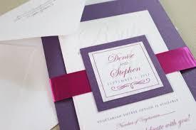 handmade invitations handmade invitations rectangle potrait purple white artistic