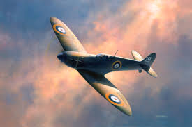 supermarine spitfire aircraft painting the battle of britain