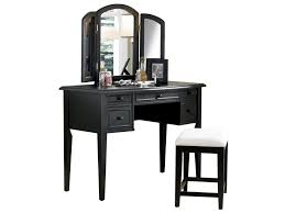 Linon Home Decor Vanity Set With Butterfly Bench Black by Black Bedroom Vanity