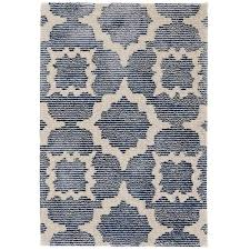 china blue tufted wool viscose rug dash u0026 albert