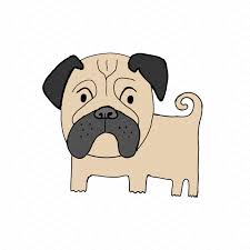 pug dog illustration illustrations creative market