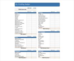 wedding budget template 14 wedding budget templates free pdf doc xls format