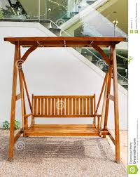 Double Swing Wooden Swing With Double Seat Outdoors Stock Image Image 10844371