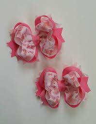 girl hair bows set of 2 pcs 4 inch pigtails hair bows for small stacked b