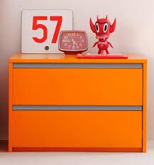 comodino per bambini cassettone moderno in legno per bambini unisex arancione