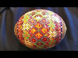 painted ostrich egg how to prepare an ostrich egg shell for pysanky and batik style
