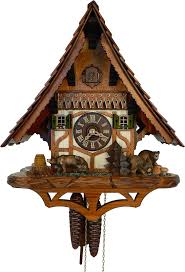 German Clocks Cuckoo Clock 1 Day Movement Chalet Style 38cm By Anton Schneider