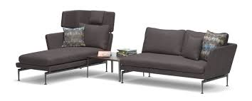 2 Seater Chaise Lounge Vitra Suita Chaise Longue Small Headrest Sofa 2 Seater