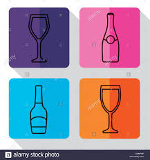 champagne bottle outline champagne bottle stock vector images alamy
