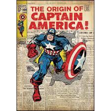 popular superhero wall stickers obedding com captain america comic book cover wall accents