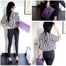 black and white striped blouse artandfashion lifestylelb vestimenta vertical striped blouse