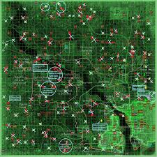 Fallout 2 Map by Image Routes Locations Marked Encounters Png Fallout Wiki