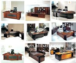 Smart Office Desk Desk 2 Tone Wood Executive Office Furniture Desk Executive