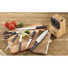cuisinart kitchen knives cabinets u0026 storages perfcet hardwood slot knife block inspiration