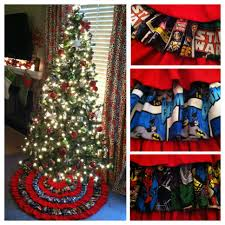 super hero star wars christmas tree skirt only marvel for this