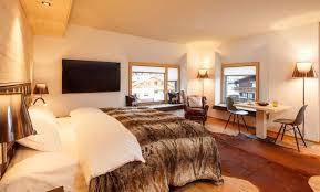 Schlafzimmer Im Chalet Stil Hotel Piz Buin Chalet Klosters
