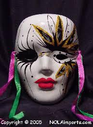 ceramic mardi gras masks medium single black eyed painted mardi gras mask mardi gras