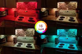 12v Under Cabinet Lighting by Off Youkoyi Led Under Cabinet Lighting Kit Rgb Led Puck Lights