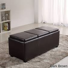 Black Storage Ottoman With Tray Sofa Large Ottoman Tray Fabric Storage Ottoman Black Storage