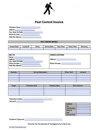 free pest control invoice template excel pdf word doc